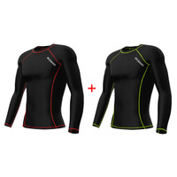Wholesale fitness wear custom made performance running top men polypropylene base layer