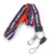 Manufacturer price retractable custom printed woven neck lanyard with metal buckle