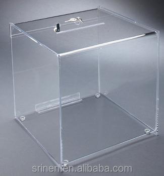 Best Quality Lockable Transparent Plexiglass Storage Boxes