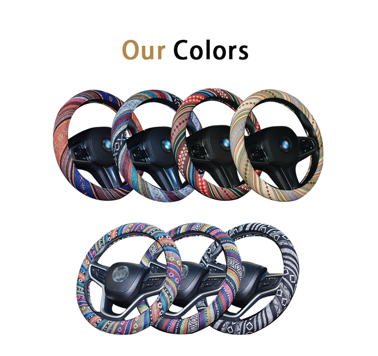 FX-B-018 Good quality steering grip cover for sewing custom steering wheel wrap