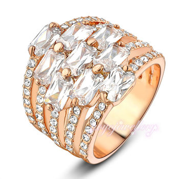 Wedding Gifts Ring Jewelry White Color Stones Gold Ring Name Designs