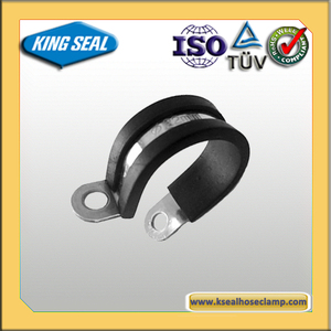 Black Rubber plastic hose clamp PVC pipe clips