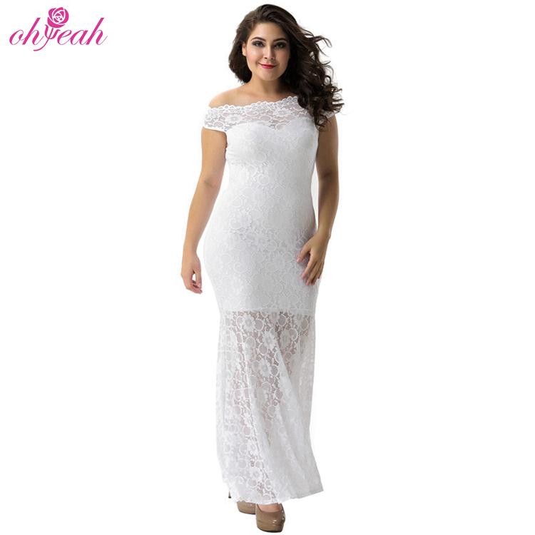 Wholesale sexy lace elegant plus size long dress for wedding фото