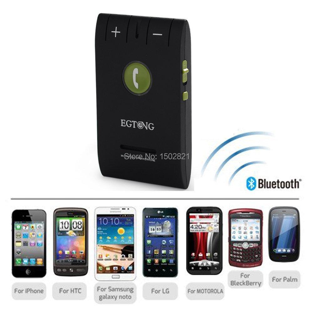 Беспроводная связь Bluetooth 4.0 автомобильный комплект динамик громкой связи с зажим солнцезащитного козырька громкой связи для iPhone 6 6 S 5 4S Galaxy S5 S4 S3 Xperia Z