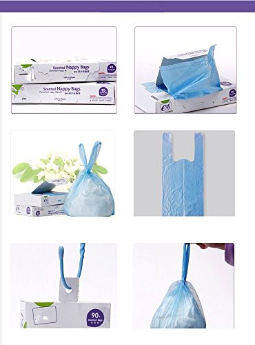 wholesale scented baby doll nappy diaper refill bags