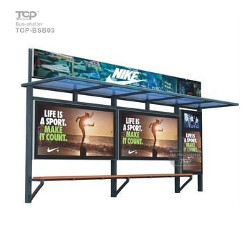 2019 Factory High Quality Bus Kiosk BUS SHELTER ADVERTISING