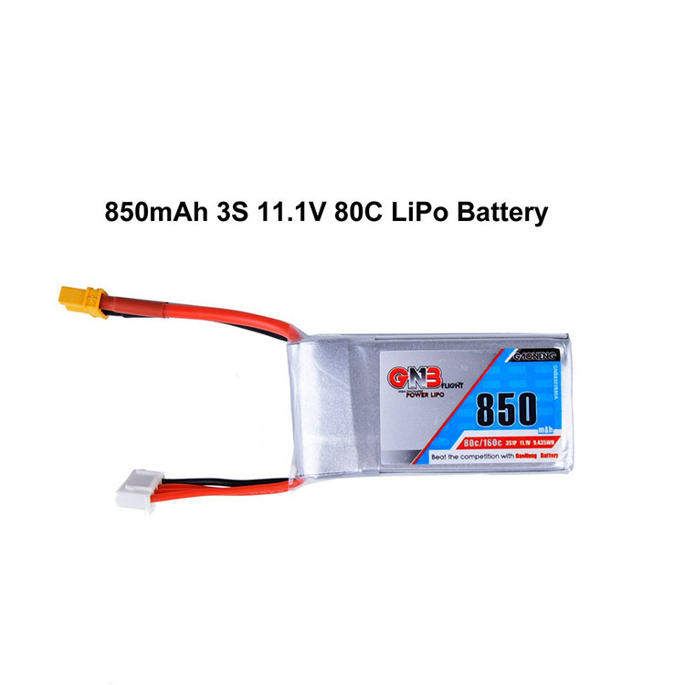 GaoNeng Brand 11.1V 850mah 3s battery XT30 Connector for FPV drones