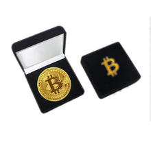 Deluxe Collectible Crypto Bitcoin Coin Gift Set em Caixa De <span class=keywords><strong>Veludo</strong></span>