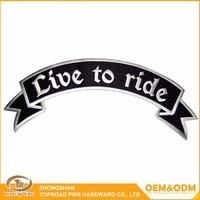 Wholesale custom letter design banner fashion 3d garment patches embroidery