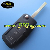 Christmas gift 3 buttons 433/315Mhz 4D63(copy 80 bit) chip for ford focus remote key