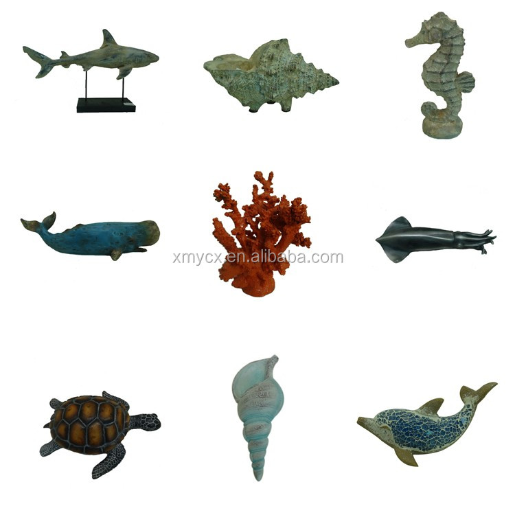 Imitation funny animal figurines resin blue whale