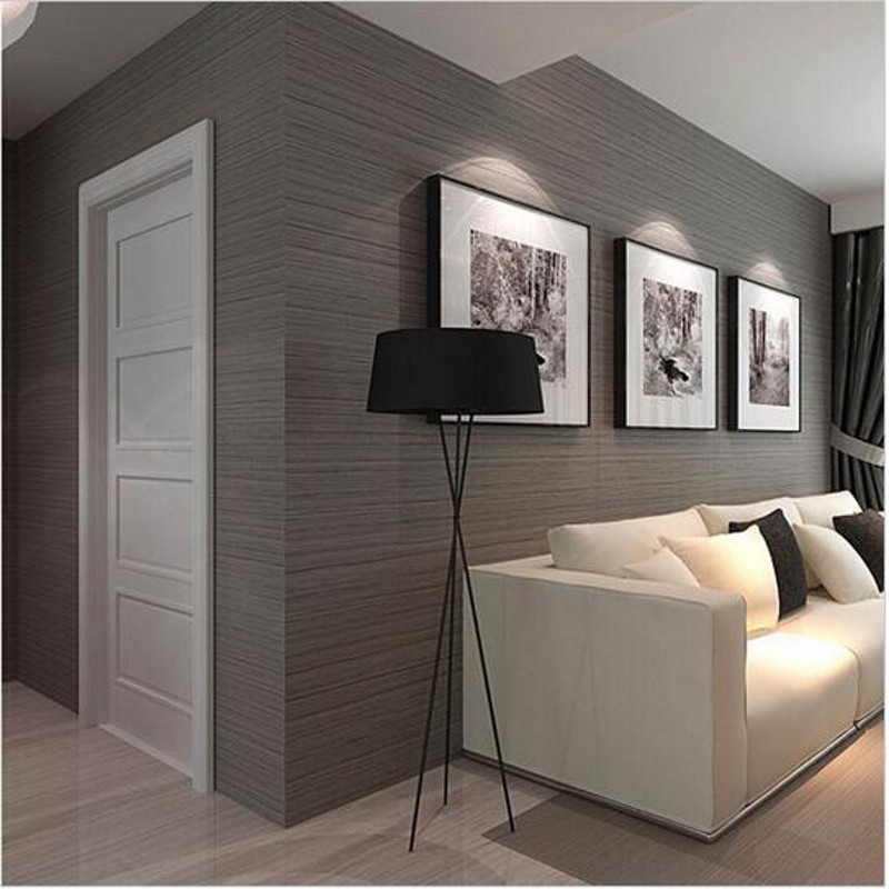 Home Decor Modern Vinyl Striped Wallpaper Proof D