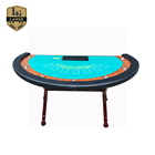 High Quality Solid Wood Poker Table H Leg Casino Table with Speed Cloth