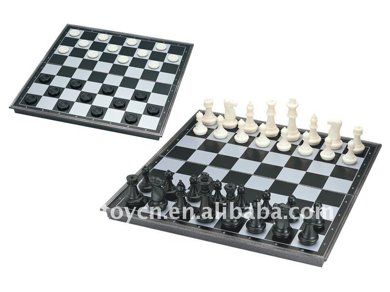 2 in 1 Chess set & Checkers SM140027