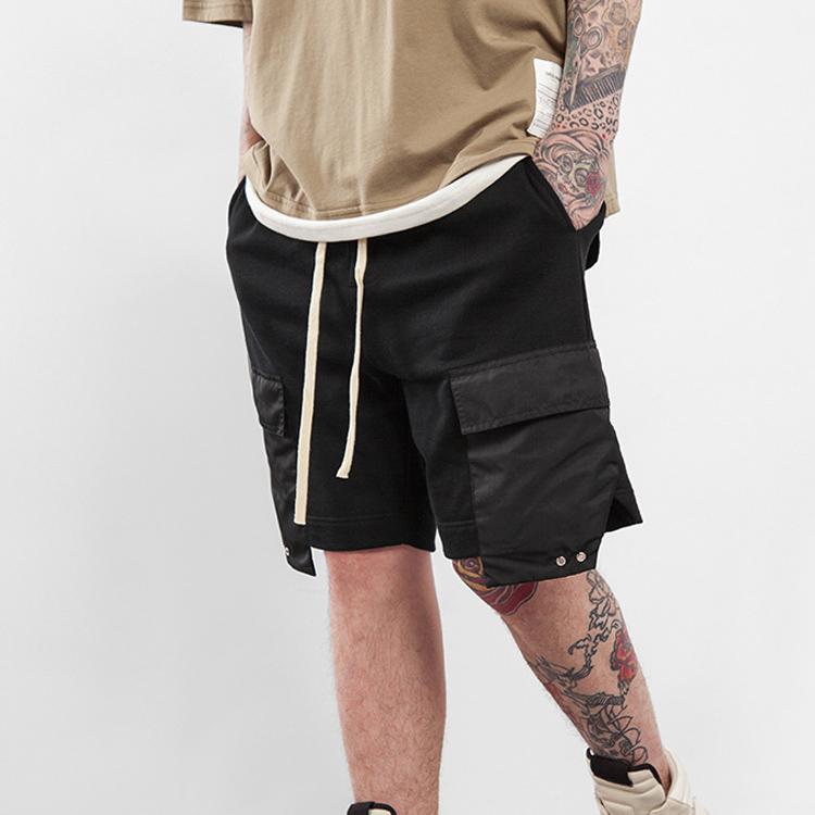 c3509faf9489 High street mens clothing mens shorts elastic waist draw string male summer  sweat shorts 6 pocket