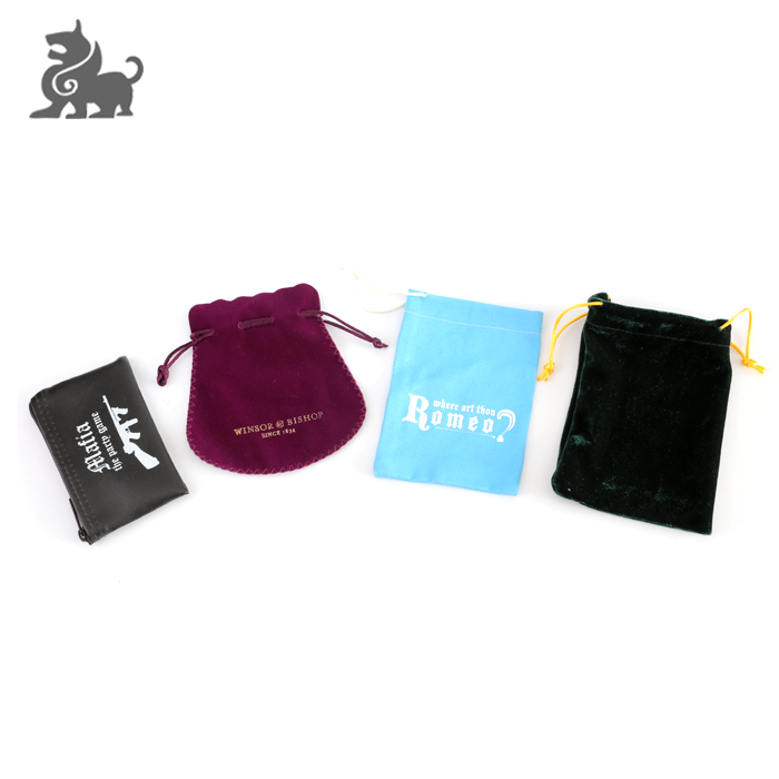 Small black cheap cotton drawstring bags for board game accessories