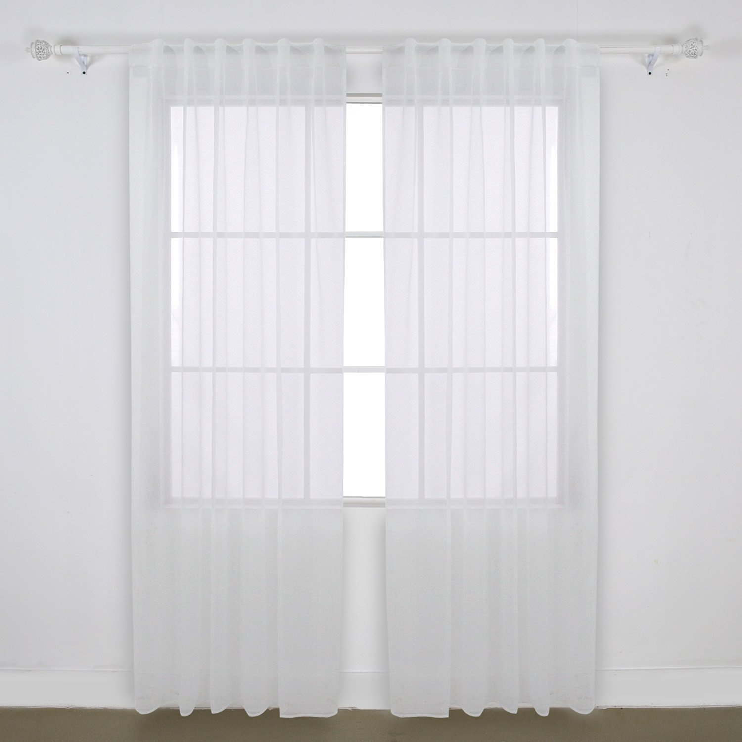 Get Quotations Deconovo Home Decorations Rod Pocket And Back Tab Curtains Voile Sheer Drapes Tulle