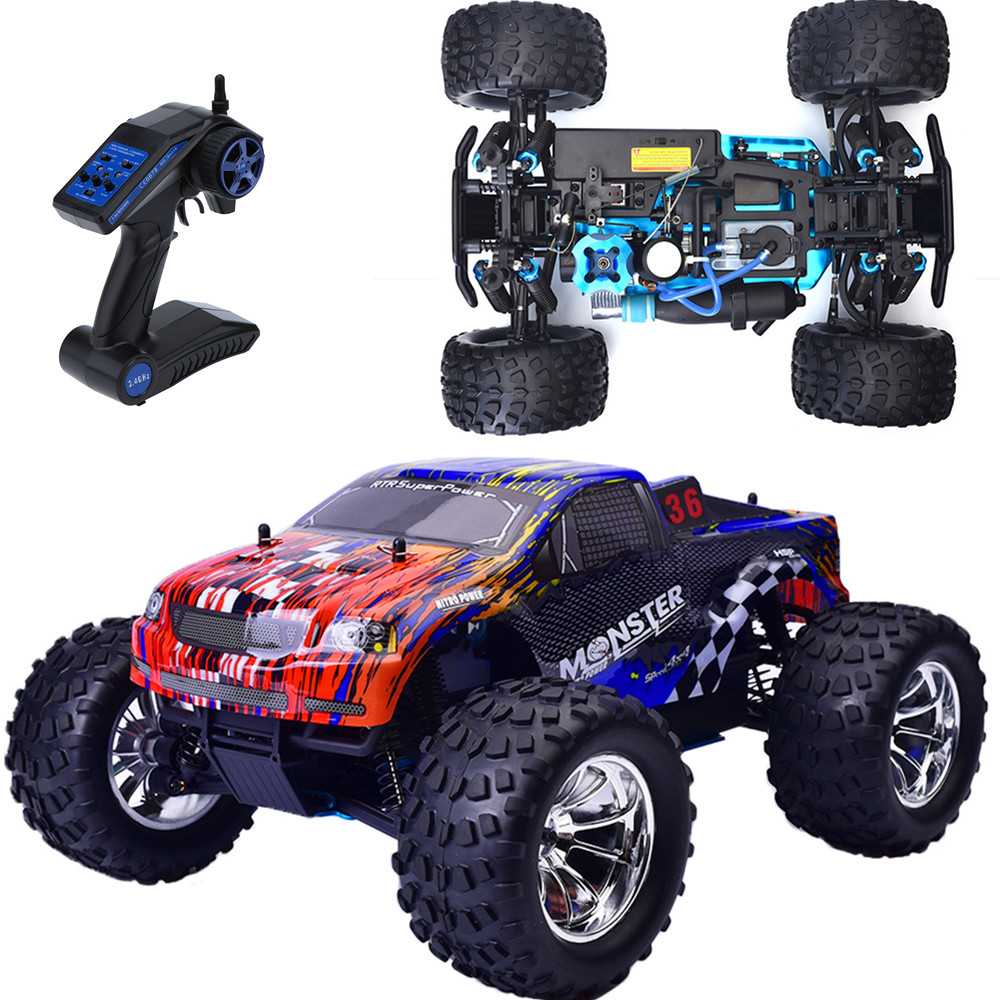 Hsp Rc Car 1 10 Scale Nitro Gas Power 4wd Off Road Truck: HSP Rc Truck 1/10 Scale Models Nitro Gas Power Off Road