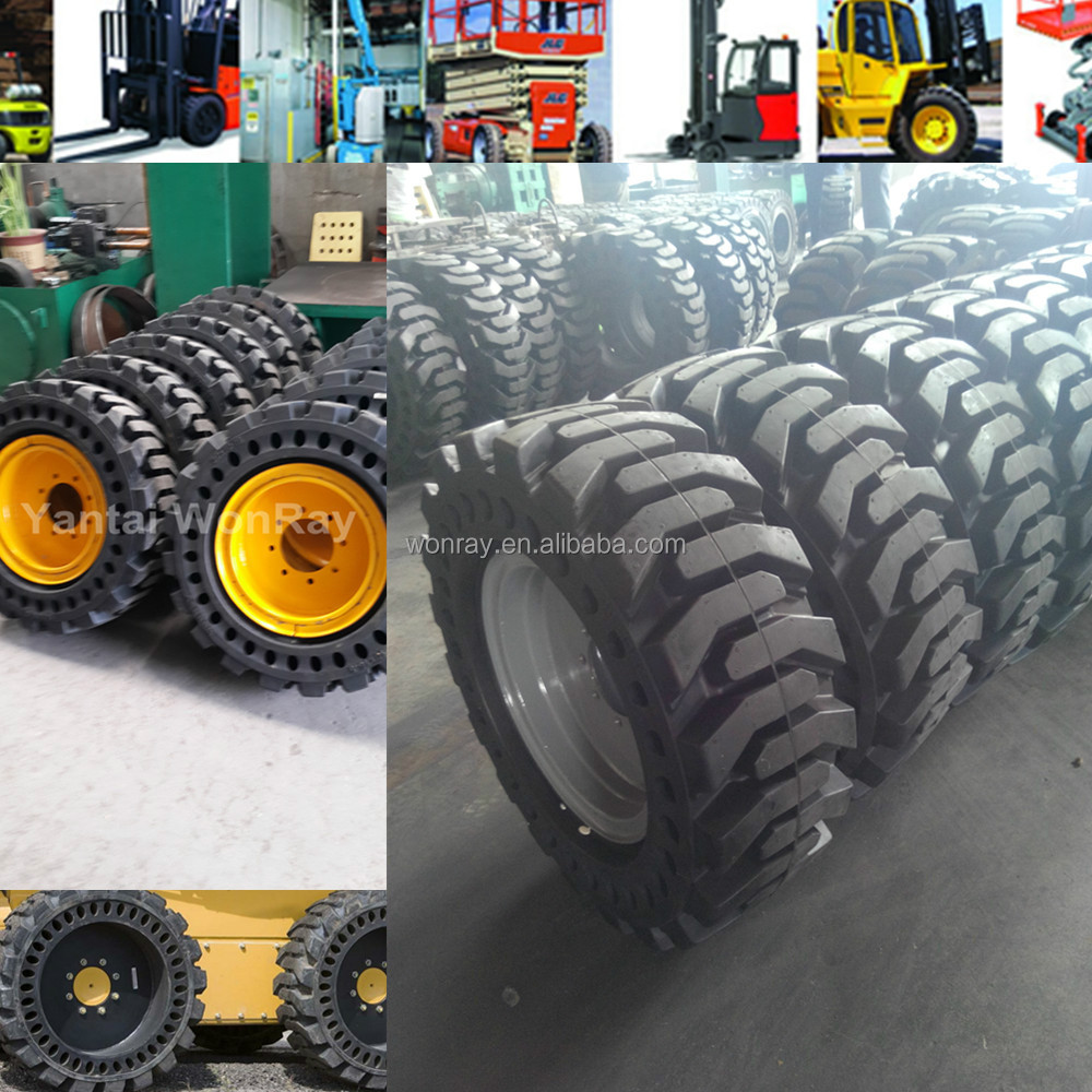 Top Quality Solid Tire For Bobcat 753skid Steer Tires 10 165 With