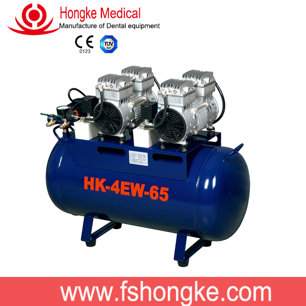 High quality oil free compensate dental air compressor price with different gas tank volume