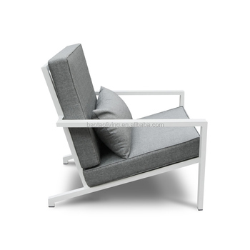 Outdoor Aluminum Garden Sofa Packed In One Box Patio Furniture Stackable Sofa