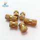 OEM High Precision Cone-Shape Brass Knurling Threaded Insert for Plastics