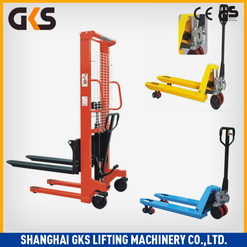 Hand lift pallet truck for cargo and platform/Manual forklift truck Stacker
