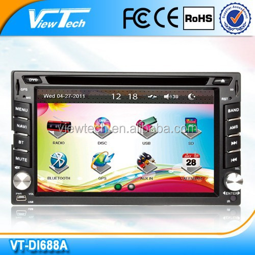6.2 inch double din Touch screen car dvd High speed reaction