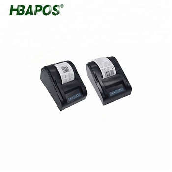HBAPOS portable 58mm thermal receipt printer mini pos receipt printer used for fast food