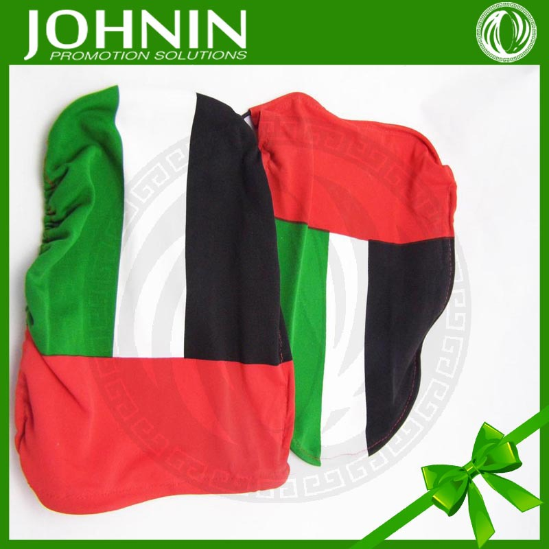 top gifts high quality 160gsm knitted polyester car mirrors flag