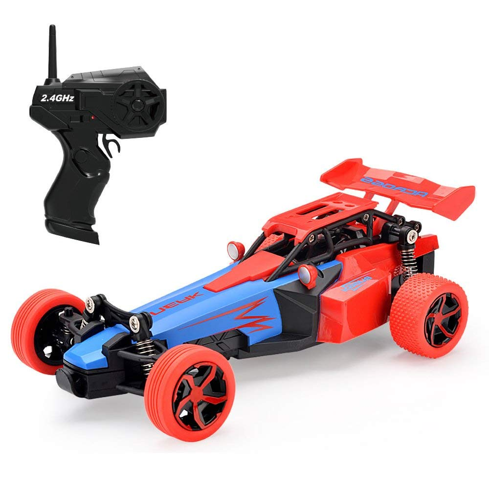 Joyjam Toys for 5-10 Year Old Boys RC Race Car Remote Toy Vehicles for Kids 1:24 Scale Off Road Electric Car 14KM/H High Speed Racing RC Car for Boys Gifts CMC Red