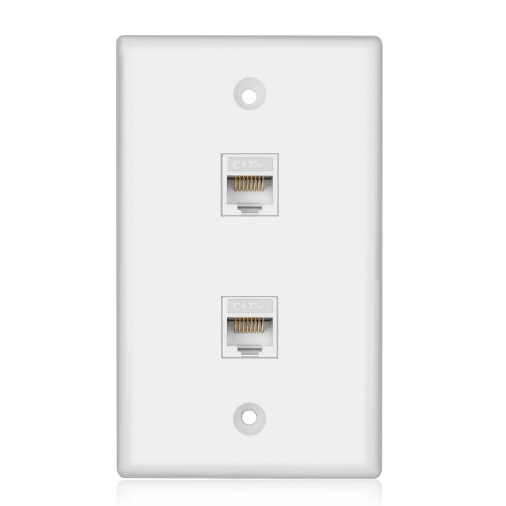 Cheap Cat 5 Telephone Wiring Find Deals On Connectors Get Quotations Tnp Ethernet Network Cat6 Wall Plate Dual 2 Port Rj45 Connector Socket