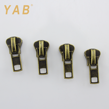 YAB 2017 New Products Customized Size Home Textile Two Sided Reversible Zipper Slider