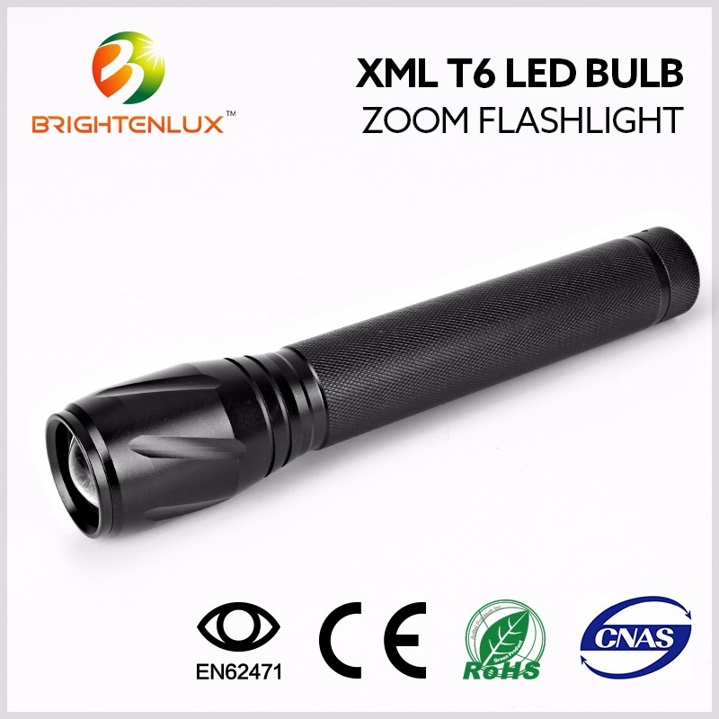 Flashlight Factory 3c Battery Powered Super Bright 1000lm Zoomable ...