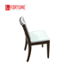 French style modern elegant restaurant furniture graceful comfortable internet cafe chair with wooden base ( FOH-RC01 )