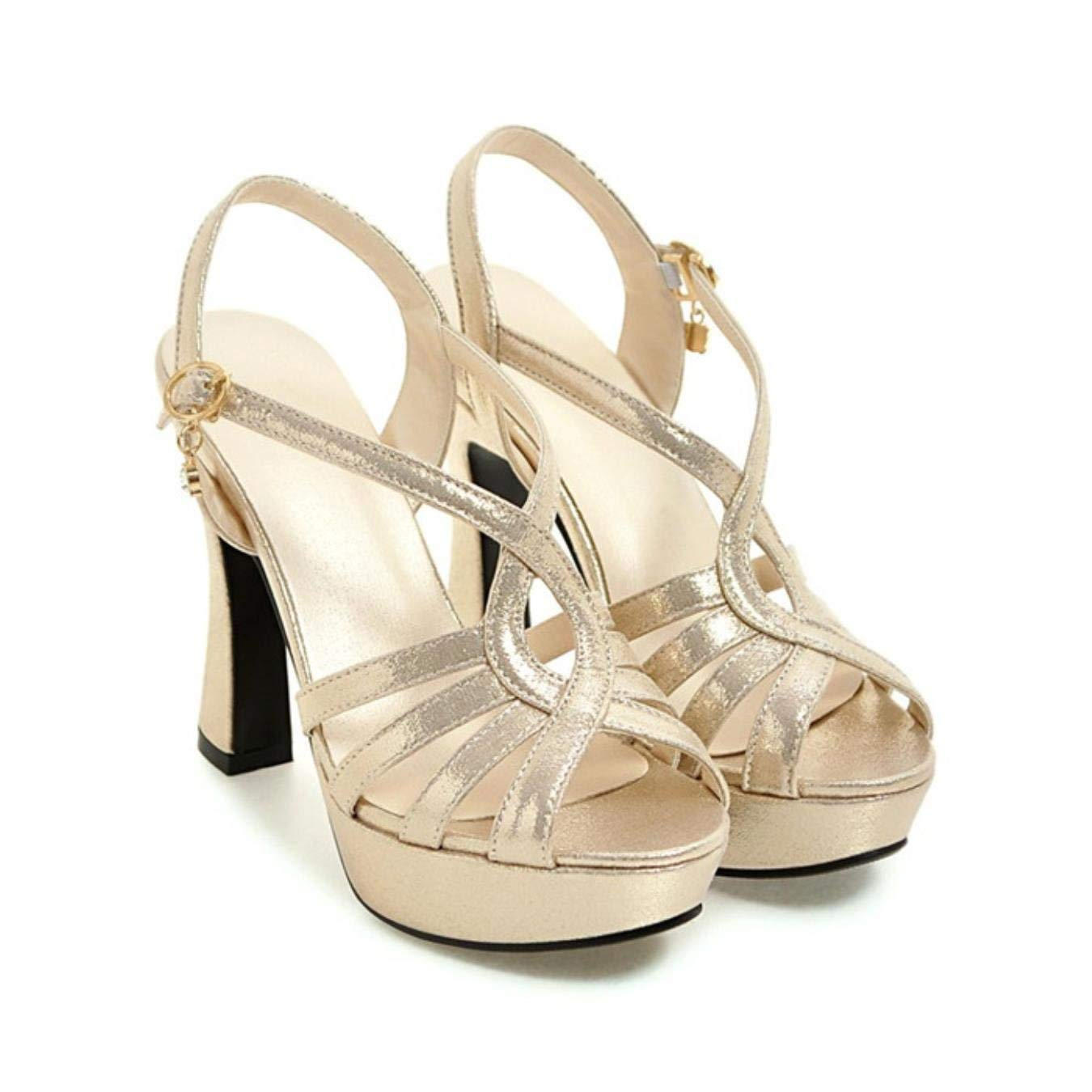 de7b90a5adaf Get Quotations · Women Sandals Platform High Heels Sandals Gladiator Shoes  Summer Sexy Silver Party Wedding Shoes