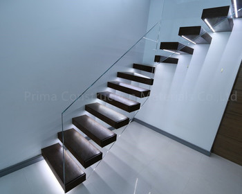 Steel Structure Staircase Glass Floating Cantilever