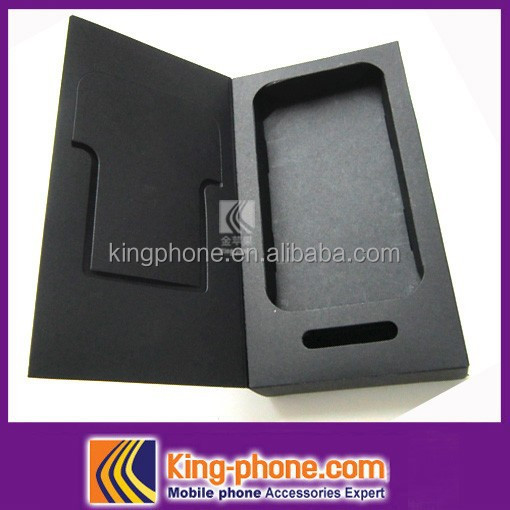 cell phone case packing box, <strong>black</strong> paper packagimg box for iphone