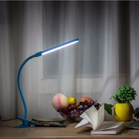 Cheap Foldable plastic LED table lamp with USB charger for computer use