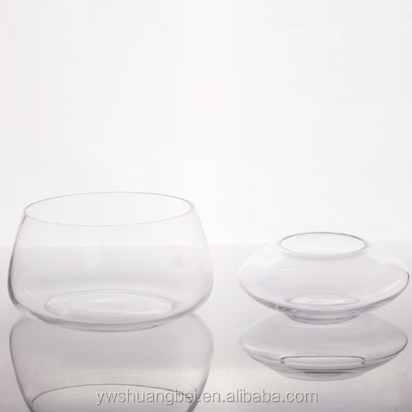Clear Unique Shaped Glass Candle Holder Glass Candlestick