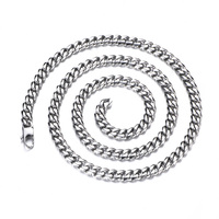 22/24/26inches Length Custom Stainless Steel Curb Link Necklace Chain Popular Men Heavy Chain Necklace