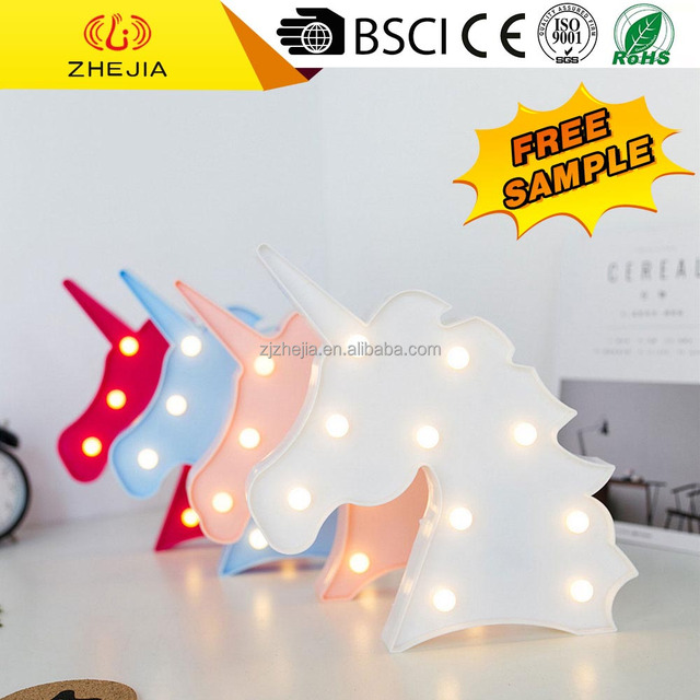cost effective small battery operated christmas led light with unicorn shape