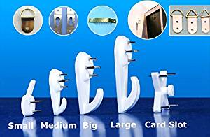 Seamless Invisible Strengthening Nail Wall Seamless Nails Photo Frame Photos of Wall Paintings Screw Hook Hardwall Picture Hangers (M(3.1*1.6cm)) Free Shipping (Pack of 10)