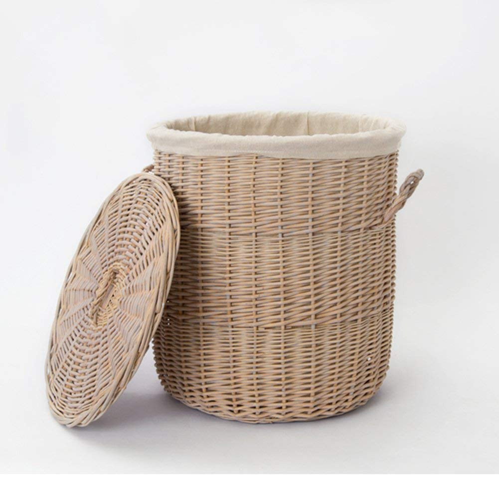 Buy Hand-knitted Wicker Rattan Laundry basket With HAndles,Large