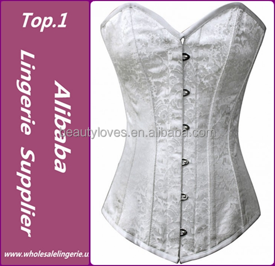 Factory price wholesale white high fashion lingerie sexy corset