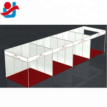 Combined 4 units single sided Aluminum Modular 3x3m Exhibition System Booths With Pvc Panel