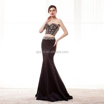 Bare Midriff Evening Dress