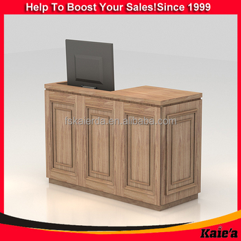 Temper Design Wood Receptionist Table