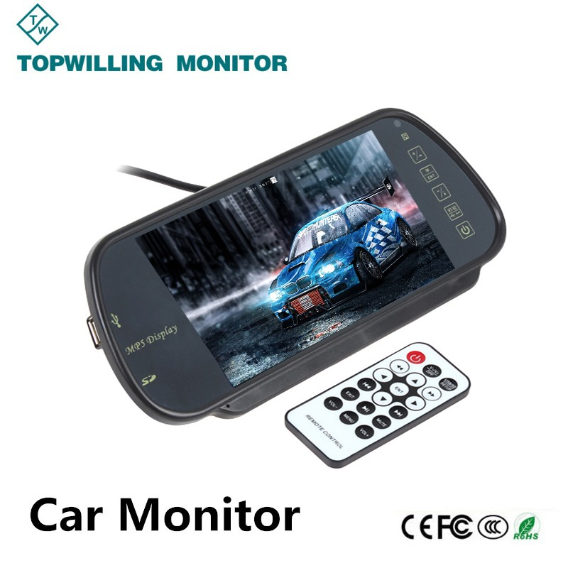 Mirror Monitor 7 inch Car Headrest Monitor TFT LCD MP5 Monitor