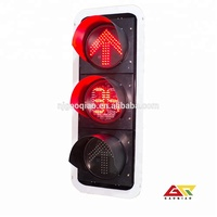 300mm arrow traffic signal light three aspect LED countdown timer integrated